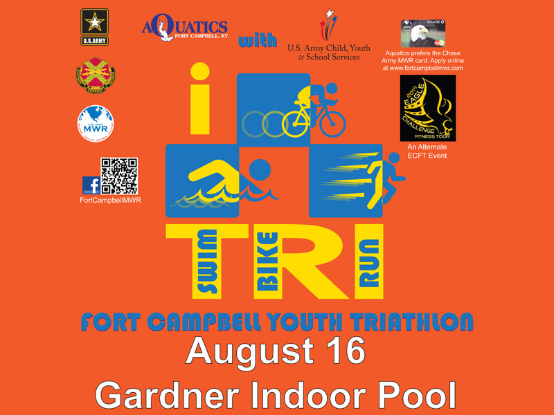 Fort campbell mwr to hold youth triathlon on august 16th for Gardner pool fort campbell