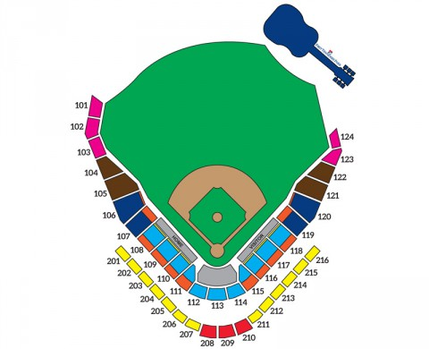 First Tennessee Park Seating Map.