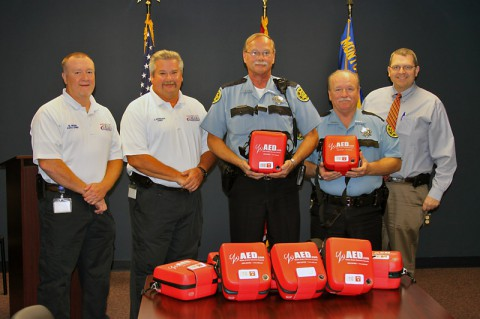 Montgomery County EMS gives AEDs to Sheriff's Office