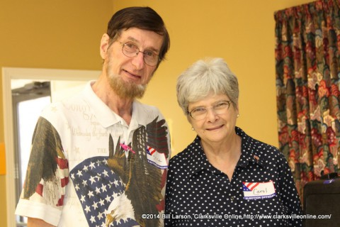 Poll workers Bruce and Carol Shawver