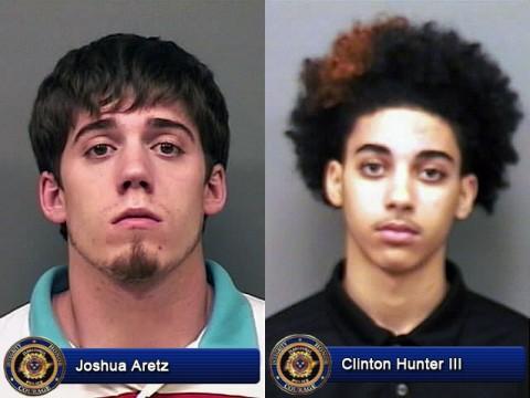 Joshua Aretz and Clinton Hunter III