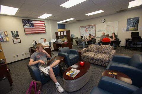 Students are photographed in the Military Student Center on Thursday, June 5, 2014. (Taylor Slifko/APSU)