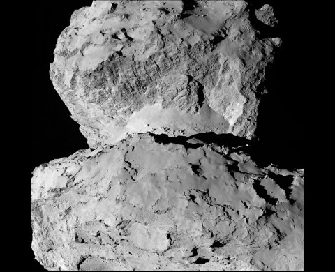 Image of 67P/Churyumov-Gerasimenko shows the diversity of surface structures on the comet's nucleus. (ESA/Rosetta/NAVCAM)