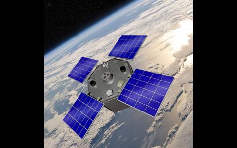 Artist's rendering of the AcrimSat spacecraft. (NASA)