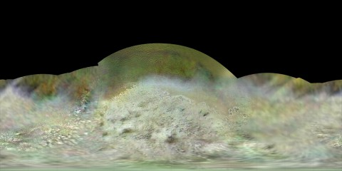 The Voyager 2 spacecraft flew by Triton, a moon of Neptune, in the summer of 1989. (NASA/JPL-Caltech/Lunar & Planetary Institute)