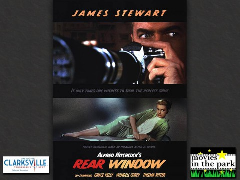 Alfred Hitchcock's 'Rear Window' to be featured at Movies in the Park August 23rd.
