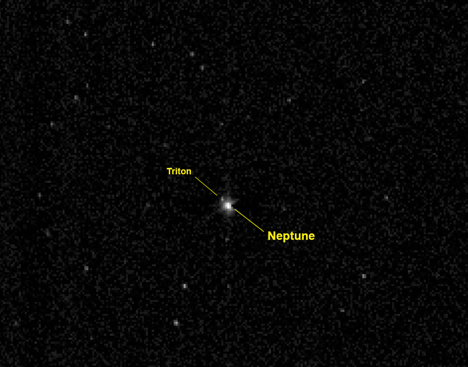Nasas Pluto Bound New Horizonsecraft Captured This View Of The Giant Planet Neptune And