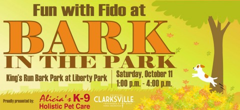 Bark in the Park set for Saturday, October 11th, 2014.