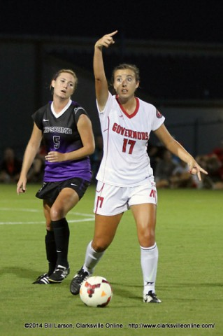 APSU Soccer's Taylor Van Wagner.