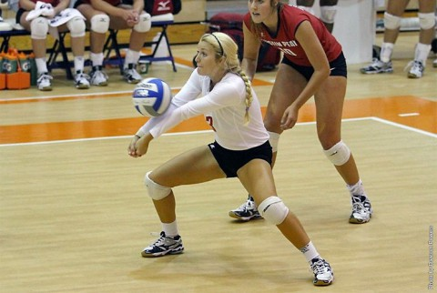 Austin Peay Junior April Adams was named to the all-tournament team. (APSU Sports Information)