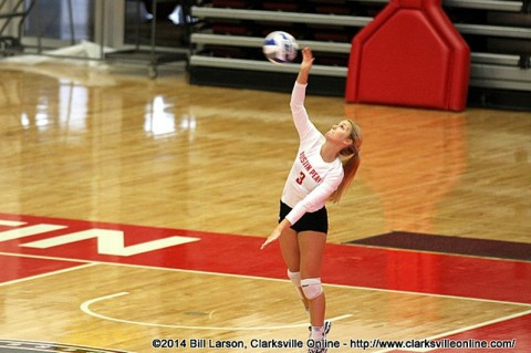 Austin Peay Volleyball beats UT Martin.