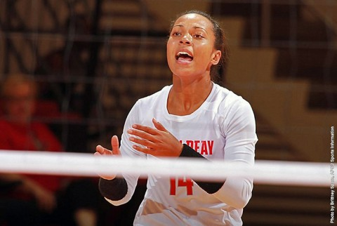 Austin Peay Senior outside hitter Jada Stotts had 16 kills in loss to Belmont. (APSU Sports Information)