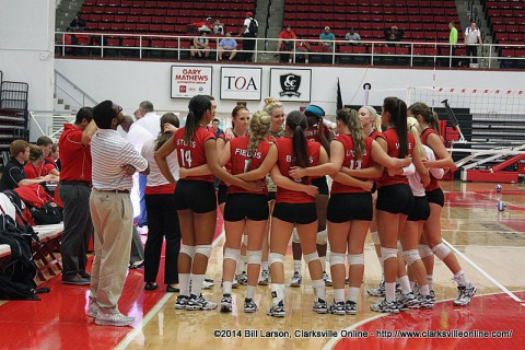 APSU Women's Volleyball faces Murray State Tuesday at the Dunn Center.