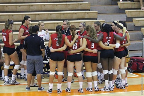 Austin Peay Lady Govs Volleyball errors costly in loss to Drake. (APSU Sports Information)