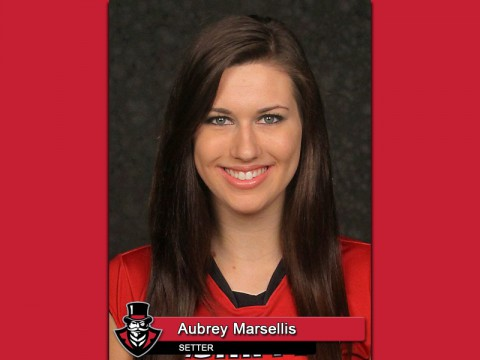Austin Peay Junior setter Aubrey Marsellis was named to the Akron Inviational All-Tournament team, Saturday. (APSU Sports Information)