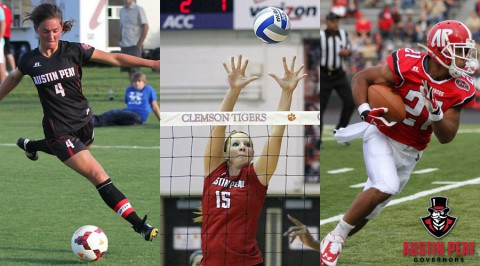 Austin Peay State University Soccer, Volleyball and Football to begin OVC season.