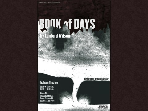 """Book of Days"" to be presented by APSU Theatre and Dance October 1st-5th"