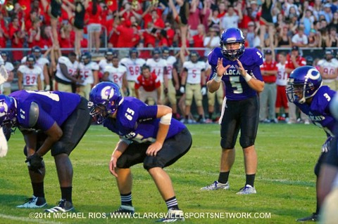 Clarksville High beats West Creek 44-7 Friday night. (Michael Rios/Clarksville Sports Network)