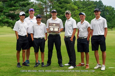 Clarksville High School Boys Golf team wins District Tournament (Michael Rios - Clarksville Sports Network)