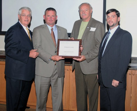 (Left to Right) – GNRC President Rogers Anderson, Montgomery County Mayor Jim Durrett, Montgomery County Park Director Jerry Allbert and Montgomery County Engineer Nick Powell.