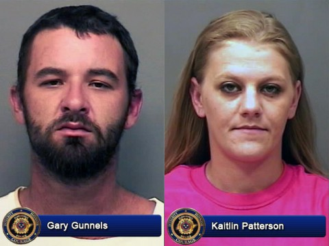 Gary Brian Gunnels and Kaitlin Patterson are wanted by Clarksville Police for theft of a Husqvarna riding mower.