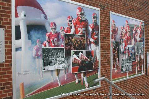Artwork adorning the walls of the Blake Jenkins Plaza