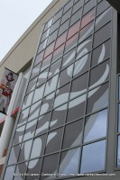 A giant APSU Governor adorns the side of the new stadium