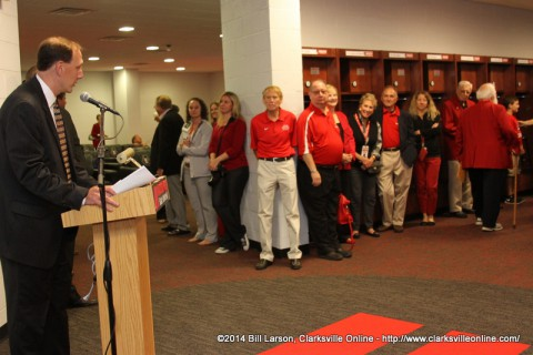 The dedication of the new locker rooms