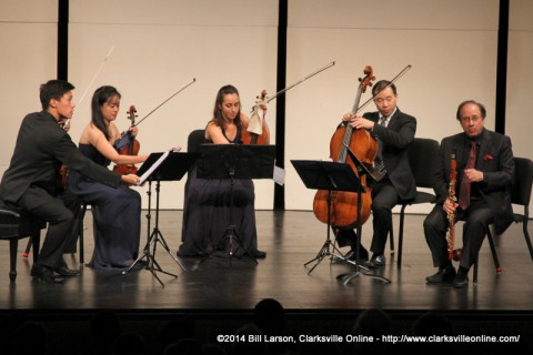 The world famous Parker Quartet along with Guest Clarinetist Charles Neidich.