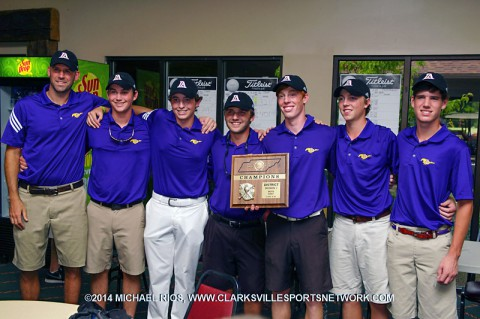 Lipscomb boys win district championship. (Michael Rios - Clarksville Sports Network)