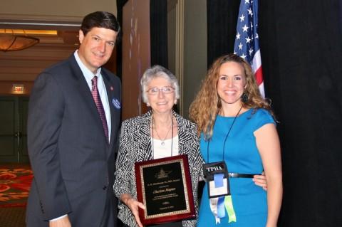 Charlene Haynes being awarded the R. H. Hutcheson, Sr., MD Award