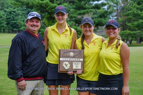 Rossview High School Girls's Golf team wins District Tournament (Michael Rios - Clarksville Sports Network)