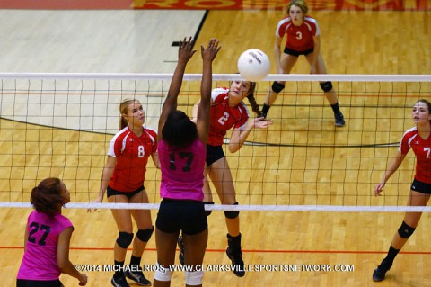 Rossview Volleyball beats Kenwood in straight sets.