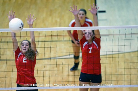 Rossview holds off charge from Northeast for Volleyball victory. (Michael Rios - Clarksville Sports Network)