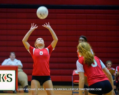 Rossview downs Northwest behind Jessica Mattson's 16 kills. (Michael Rios - Clarksville Sports Network)