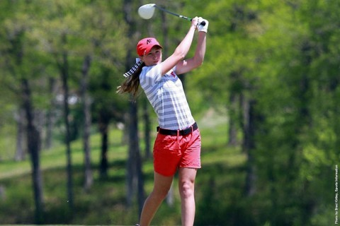 Austin Peay junior Jessica Cathey shot a 77 in final round at Chris Banister Golf Classic. (APSU Sports Information)
