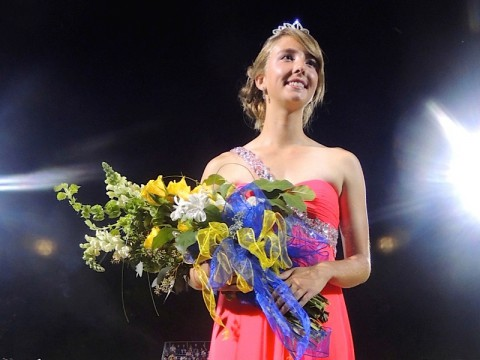 Rebekah Lynn, the daughter of Dr. Bart & Kim Lynn is Clarksville Academy's 2014 Homecoming Queen