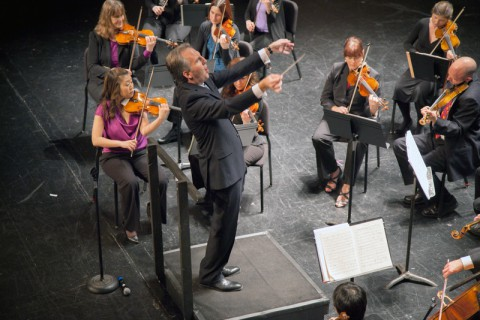 Gregory Wolynec directing the Gateway Chamber Orchestra