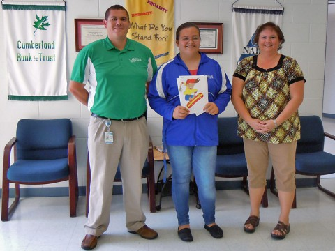 """Emily Selby of New Providence Middle School is the grand Prize winner of this year's """"Art on the Park"""" contest."""