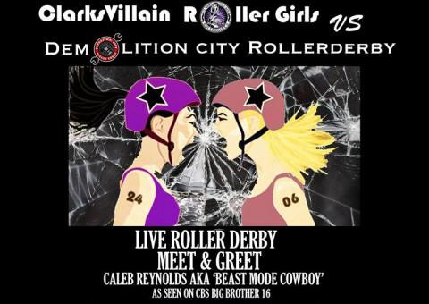 ClarksVillian Roller Girls vs. Demolition City Saturday, November 8th, 2014 at the Clarksville Speedway and Fairgrounds.