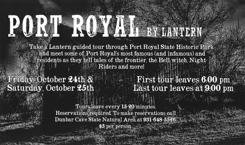 2014 Port Royal by Lantern Tour