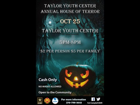 "Visit Taylor Youth Center's ""House of Terror"" for Some Fright Filled Fun."