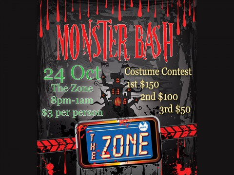 Monster Bash at The Zone October 24th