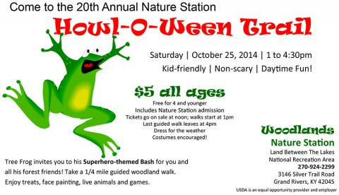 20th Annual Nature Station Howl-O-Ween Trail Saturday, October 25th
