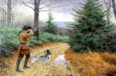 A Good Day's Hunt - by David Wright. (www.davidwrightart.com)