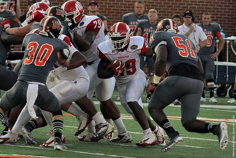 Austin Peay freshman walk-on Otis Gerron rushed for 196 yards, including an 89-yard TD run in the Govs loss. (APSU Sports Information)