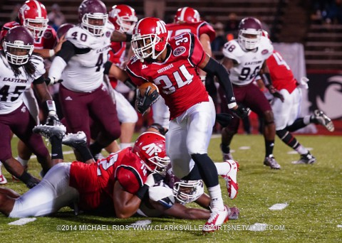 Austin Peay Governors Football takes on Murray State Racers at Governors Stadium, Saturday, October 18th.