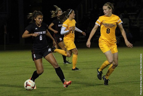 Austin Peay Women's Soccer loses at home to Murray State, 3-2. (APSU Sports Information)