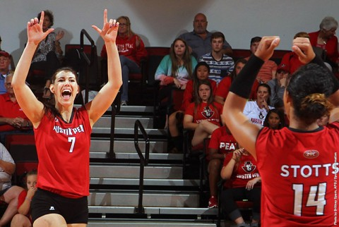 Austin Peay Women's Volleyball gets win at Tennessee State Friday night. (APSU Sports Information)