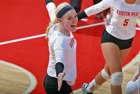 Austin Peay sophomore outside hitter Sammie Ebright is averaging 2.88 kills per set and has posted a .310 attack percentage in last six matches. (APSU Sports Information)
